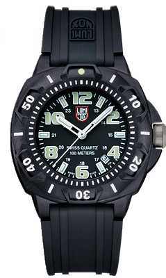 Luminox Sentry Mens Black Rubber Strap Watch A.0201.SL