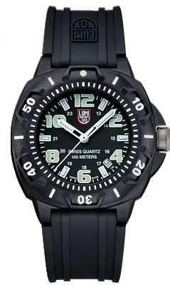 Luminox Sentry Mens Black Rubber Strap Watch A.0201.SL
