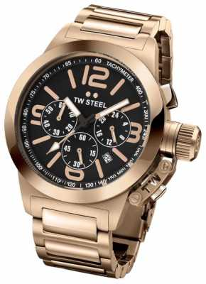 TW Steel Gent's Canteen 40MM Rose Gold Stainless Steel Bracelet Watch TW0307
