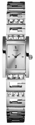 Guess Womens' Gee-Lite Silver Tone Steel Watch W85119L1
