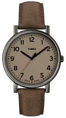 Timex Originals Grey Brown Classic Round Watch T2N957