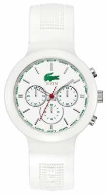Lacoste Gent's Borneo White Rubber Strap Chronograph Watch 2010653
