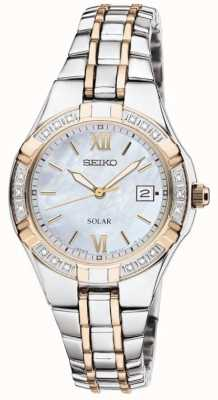 Seiko Womens' Dress Watch Eco-drive | Stainless Steel Strap | SUT068P9
