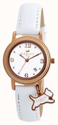 Radley Womens Darlington White Leather Strap White Dial RY2006