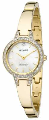 Accurist Womens' Pure Precision Diamond Bracelet Watch LB1584P
