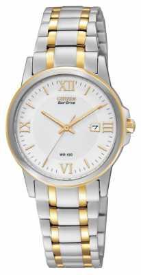 Citizen Womens' Eco- Drive Two-tone Bracelet Watch EW1914-56A