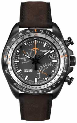 Timex Gent's Intelligent Quartz Aviator Fly-Back Chronograph Watch T2P102