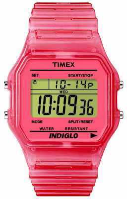 Timex Unisex Semi-Transparent Digital Watch T2N805
