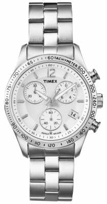 Timex Womens' Chronograph Stainless Steel Bracelet Watch T2P059