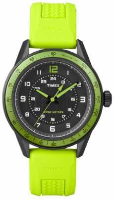 Timex Gent's Sport Green Rubber Strap Watch T2P025