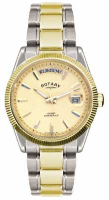 Rotary Gent's Two Tone Stainless Steel Bracelet  Havana Watch GB02661/20