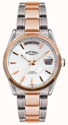 Rotary Gent's Two Tone Stainless Steel Bracelet  Havana Watch GB02662/06