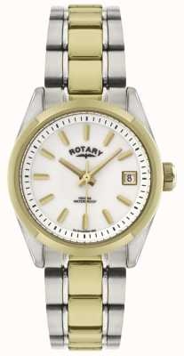 Rotary Womens' Havana | Two-Tone Stainless Steel | EX DISPLAY LB02661/11 EX-DSPLAY