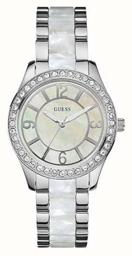 Guess Womens' Goddess Valentines Silver Tone Watch W0074L1 ...