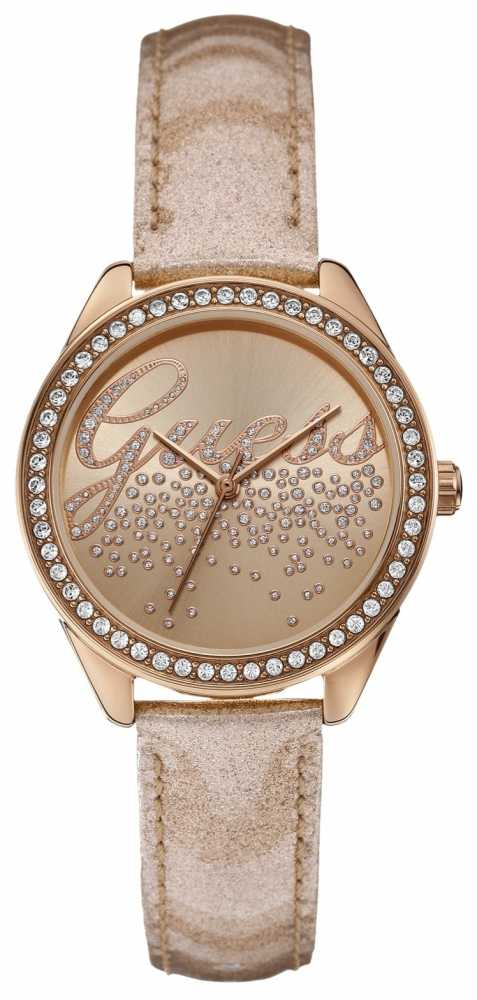 Guess Womens' Rose Gold Tone Little Watch W0161L1 - photo #28