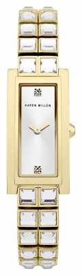 Karen Millen Womens' Gold Plate Crystal Bracelet KM113GM