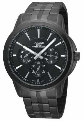 Pulsar Men's Black Ion-Plated Stainless Steel Watch PP6015X1