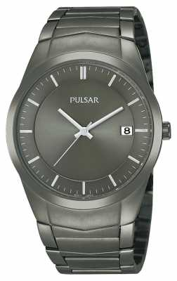 Pulsar Men's Black Ion-Plated Stainless Steel Black Dial Watch PS9153X1