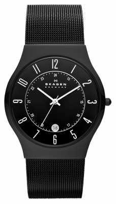 Skagen Men's black-plated Titanium Black Dial Watch 233XLTMB