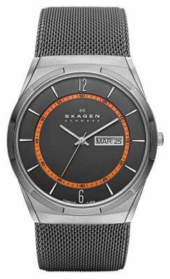 Skagen Men's Titanium Orange Detail Mesh Strap SKW6007