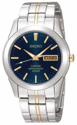 Seiko Black/Blue Dial Gold Detail Stainless Steel SGGA61P1