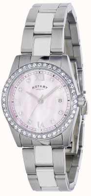Rotary Womens Havana Crystal Set Steel Bracelet LB02343/07