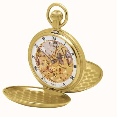 Woodford | Hunter Skeleton | Double Lid | Gold Plate | Pocket Watch | 1014