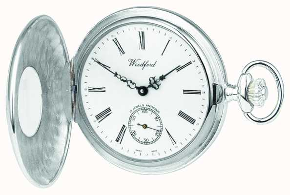 Woodford Stainless Steel Half Hunter Pocketwatch 1067