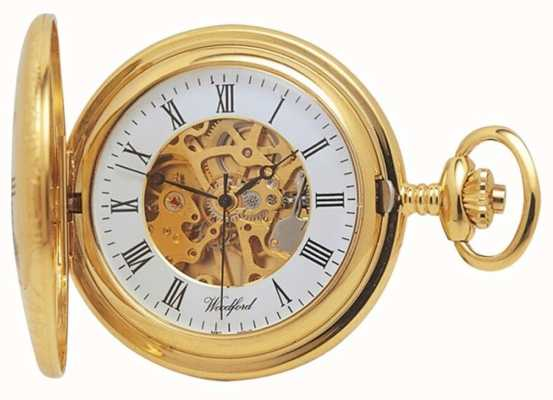 Woodford | Half Hunter | Gold Plated | Skeleton | Pocket Watch | 1021
