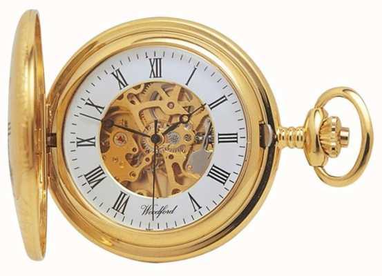 Woodford | Half Hunter | Gold Plated | Skeleton | Pocket Watch | 1021