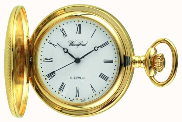 Woodford Men's Mechanical Gold-Plated Pocket Watch 1056