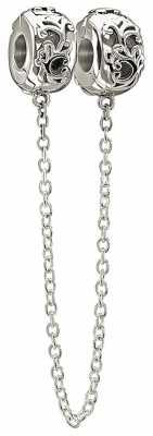 Chamilia Sterling Silver- Lock & Safety Chain-Filigree 1420-0252