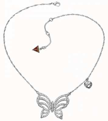 Guess Stainless Steel Fly Girl Necklace UBN41309