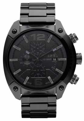 Diesel Men's Overflow Chronograph Black Watch DZ4223