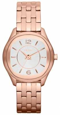 DKNY Womens Rose Gold White Dial Watch NY8807