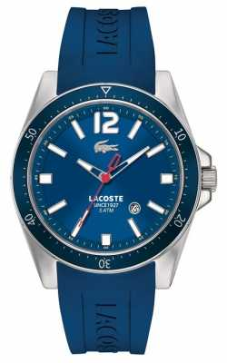 Lacoste Men's Stainless Steel Blue Dial & Bezel Blue Rubber Strap 2010665