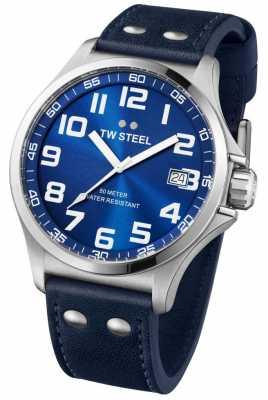 TW Steel Mens Pilot Stainless Steel Blue Dial TW0400