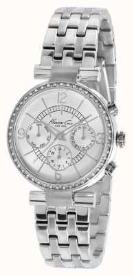 Kenneth Cole Womens' Stainless Steel Silver Dial Crystal-Set Watch KC4872