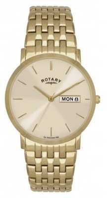 Rotary Mens Classic Gold Tone Day Date Watch GBI02624/03/DD