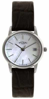 Rotary Ladies Black Strap Watch LS02750/41