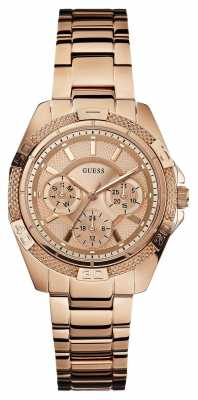 Guess Womens'  mini Phantom Rose-Gold Watch W0235L3