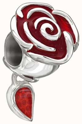 Chamilia Disney - Belle's Enchanted Rose - Red Enamel 2020-0707