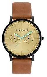 Ted Baker Men's Multi Dial Brown Leather Gold Dial Watch TE1094