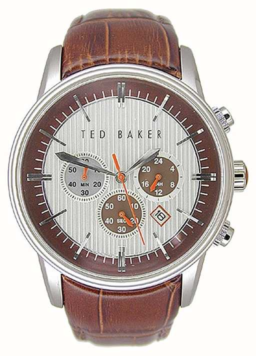 22699d14289093 Ted Baker Mens Chronograph Brown Leather Strap TE1015 - First Class ...