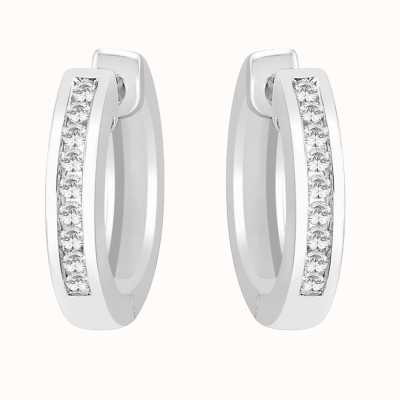 Perfection Crystals Channel Set Huggy Earrings (0.20ct) E2384-SK
