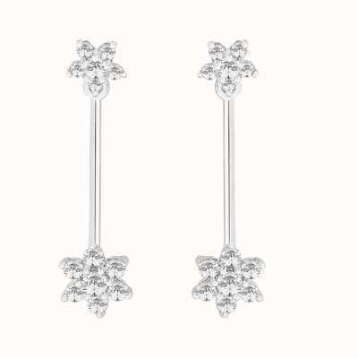 Perfection Swarovski Double Cluster Drop Earrings (0.75ct) E2918-SK