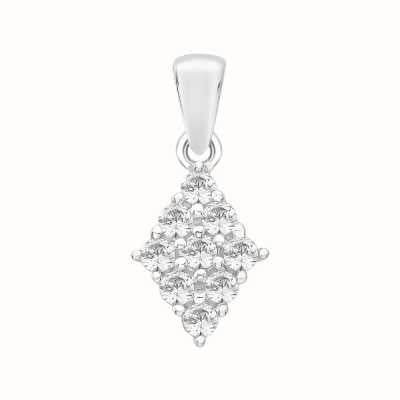 Perfection Crystals Diamond Shaped Cluster Pendant (0.50ct) P3293-SK