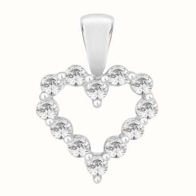 Perfection Swarovski Claw Set Heart Pendant (1.00ct) P3698-SK