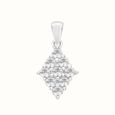 Perfection Crystals Diamond Shaped Cluster Pendant (0.40ct) P5132-SK