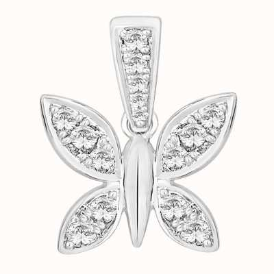 Perfection Swarovski Butterfly Pendant (0.25ct) P5146-SK